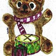 Drummer Teddy Print by Shaunna Juuti
