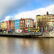 Dublin River Liffey Panorama Print by Mark E Tisdale