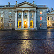 Dublin Trinity College Chapel At Night Print by Mark E Tisdale