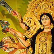 Durga Idol Print by Money Sharma