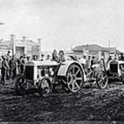Early Tractors, Russia Print by Science Photo Library