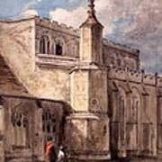 East Bergholt Church, Northside Print by John Constable
