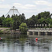 East Riverfront Park And Dam - Spokane Washington Print by Daniel Hagerman