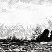 East Spanish Peak Print by Aaron Spong