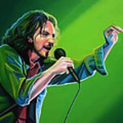 Eddie Vedder Of Pearl Jam Print by Paul Meijering