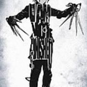 Edward Scissorhands - Johnny Depp Print by Ayse Deniz