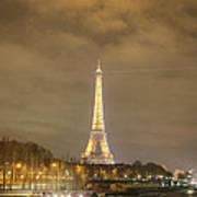 Eiffel Tower - Paris France - 011339 Print by DC Photographer
