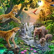 Elephant Falls Print by Jan Patrik Krasny