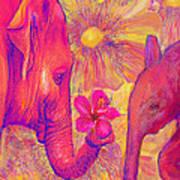 Elephant Love Print by Jane Schnetlage