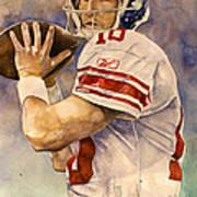 Eli Manning Print by Michael  Pattison