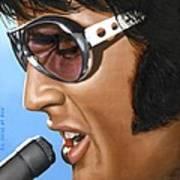 Elvis 24 1970 Print by Rob De Vries