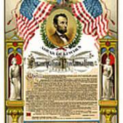 Emancipation Proclamation Tribute 1888 Print by Daniel Hagerman
