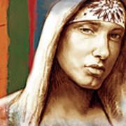 Eminem - Stylised Drawing Art Poster Print by Kim Wang