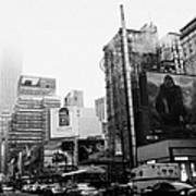empire state building shrouded in mist from west 34th Street and 7th Avenue King Kong movie poster Print by Joe Fox