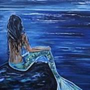 Enchanting Mermaid Print by Leslie Allen