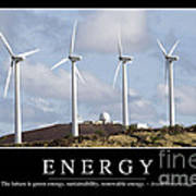 Energy Inspirational Quote Print by Stocktrek Images