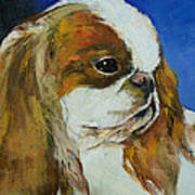 English Toy Spaniel Print by Michael Creese