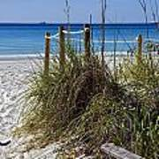 Enter The Beach Print by Susan Leggett