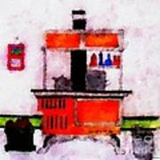 Enterprise Woodstove Print by Barbara Griffin