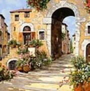 Entrata Al Borgo Print by Guido Borelli