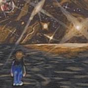Etestska Lying On Pluto Print by Keith Gruis