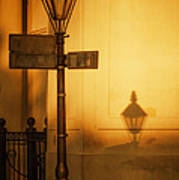 Evening Shadow In Jackson Square Print by Brenda Bryant