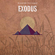 Exodus Books Of The Bible Series Old Testament Minimal Poster Art Number 2 Print by Design Turnpike
