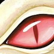 Eye Of The Albino Dragon Print by Elaina  Wagner