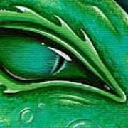 Eye Of The Green Algae Dragon Print by Elaina  Wagner