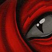 Eye Of The Scarlett Hatching Print by Elaina  Wagner