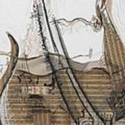 F Note Print by Mirela Vasile