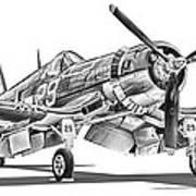 F4u Corsair Print by Dale Jackson