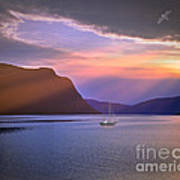 Fading Of The Light Print by Edmund Nagele