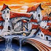 Fairy Tale City - Magic Stream Print by Emerico Imre Toth