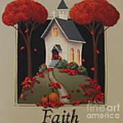 Faith Country Church Print by Catherine Holman