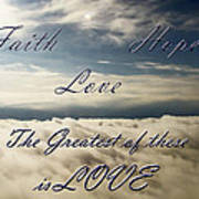 Faith Hope Love Print by Aimee L Maher Photography and Art Visit ALMGallerydotcom
