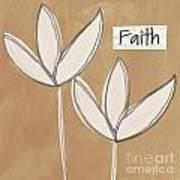Faith Print by Linda Woods