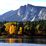 Fall At Lake Estes Print by Tranquil Light  Photography