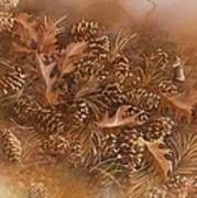 Fall Pinecones Print by Paula Marsh