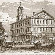 Faneuil Hall, Boston, Which Webster Print by American School