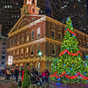 Faneuil Hall Night Print by Joann Vitali