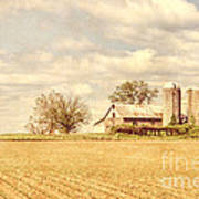 Farm And Fields  Print by Olivier Le Queinec
