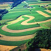 Farm Designs Pennsylvania Aerial Print by Blair Seitz