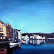 Farsund Dock Scene I Print by Janet King