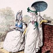 Fashion Plate Of Ladies Morning Dress Print by English School