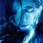 Feeling A Little Blue Print by Gun Legler