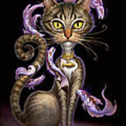 Feline Fantasy Print by Jeff Haynie