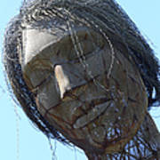 Female Sculpture On San Francisco Treasure Island 7d25445 Print by Wingsdomain Art and Photography