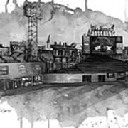 Fenway Bw Print by Michael  Pattison