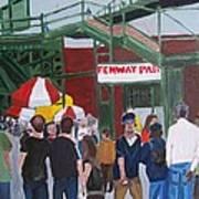 Fenway Park Spring Time Print by Carmela Cattuti